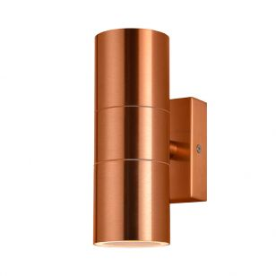 Forum Leto Up & Down Outdoor Wall Light - Copper