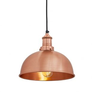 Industville Brooklyn Dome Small Ceiling Pendant Light - Copper