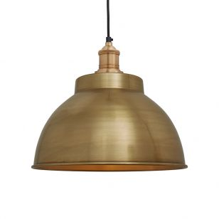 Industville Brooklyn Medium Dome Ceiling Pendant Light - Brass