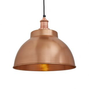 Industville Brooklyn Medium Dome Ceiling Pendant Light - Copper