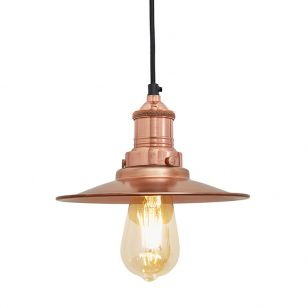 Industville Brooklyn Flat Ceiling Pendant Light - Copper
