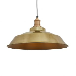 Industville Brooklyn Step Ceiling Pendant Light - Brass
