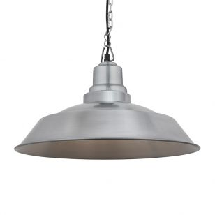Industville Brooklyn Step Ceiling Pendant Light - Light Pewter