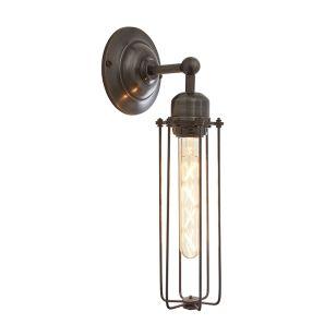 Industville Orlando Cylinder Wall Light - Pewter