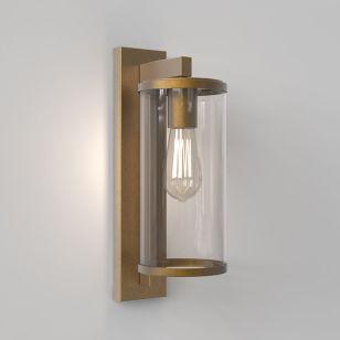 Astro Pimlico 400 Outdoor Lantern Wall Light - Antique Brass