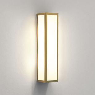 Astro Salerno Half Lantern Outdoor Wall Light - Natural Brass