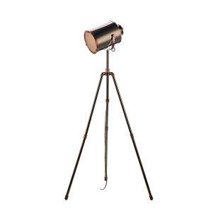 Dar Jake Floor Lamp - Antique Silver