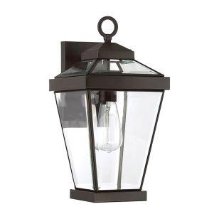Quoizel Ravine Medium Outdoor Lantern Wall Light - Western Bronze