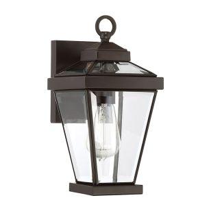 Quoizel Ravine Small Outdoor Lantern Wall Light - Western Bronze