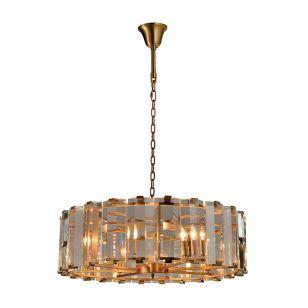 Edit Gala Glass 8 Light Chandelier - Satin Gold