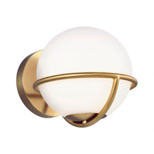 Feiss Apollo Wall Light - Burnished Brass