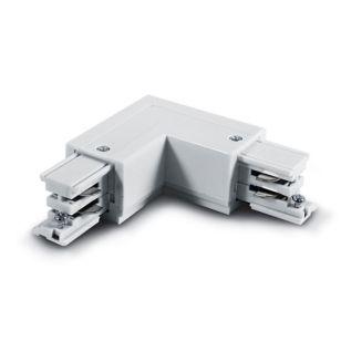 3 Circuit Left Corner Connector - White