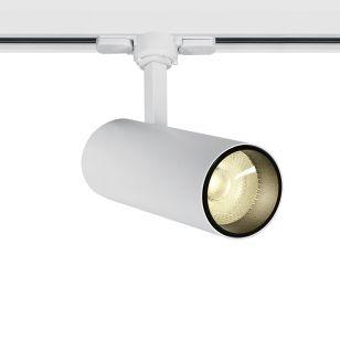 Trail 10W Warm White LED 3 Circuit Track Light - White