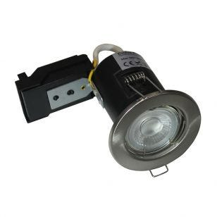 Evolve Fire Rated Fixed Downlight - Satin Nickel