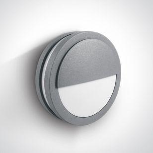Kestrel Outdoor Flush Light Grey - Eyelid