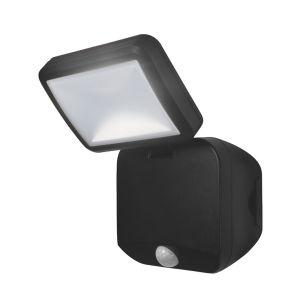 Ledvance Battery Operated LED Floodlight with PIR Sensor - Black