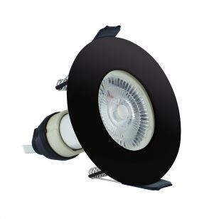 Integral EvoFire Fire Rated Low Profile Fixed Downlight - Black