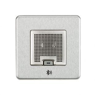 Screwless 3W RMS Bluethooth Speaker Outlet - Brushed Chrome