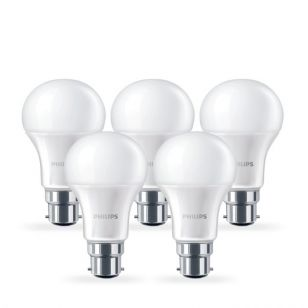 Philips 6W Corepro Warm White LED GLS Bulb - Bayonet Cap - Pack of 5