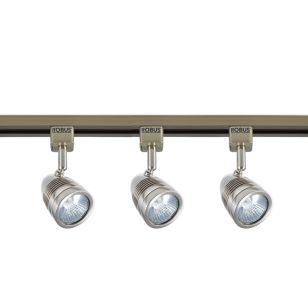 Robus Acorn LED 1 Circuit Track Light Kit - Satin Chrome - 3 Lights