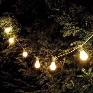 102M Weatherproof Warm White LED White Festoon Lighting Kit - 100 Lights