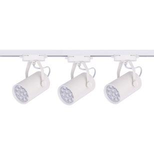 Edit Profile 12W Warm White LED 1 Circuit Track Light Kit - White - 3 Lights