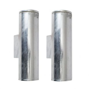 Edit Coastal Pimlico LED Outdoor Up & Down Wall Light - Galvanised Steel - Pack of 2