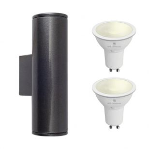 Edit Pimlico 5.5W Warm White LED Smart WiFi Outdoor Up & Down Wall Light - Anthracite