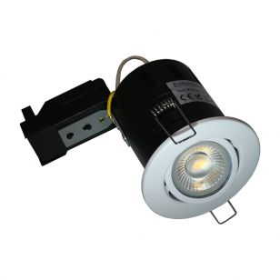Evolve 5W Warm White Dimmable LED Fire Rated Adjustable Downlight  - White