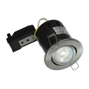 Evolve 5W Warm White Dimmable LED Fire Rated Adjustable Downlight  - Satin Nickel