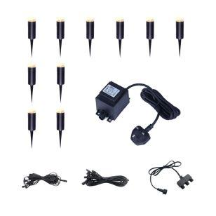 EasyFit 12V Garden Light - Botanic LED Post Light Kit - 10 Lights