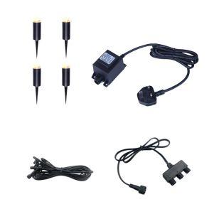 EasyFit 12V Garden Lights - Botanic LED Post Light Kit - 4 Lights