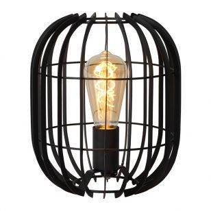 Lucide Reda Round Table Lamp - Black