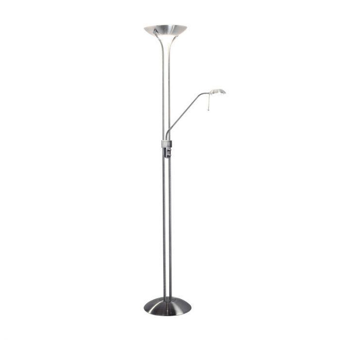 Satin Chrome Finish Halogen Floor Lamp