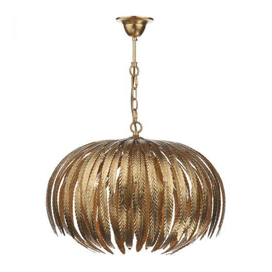 Dar Atticus 5 Light Ceiling Pendant Light - Gold