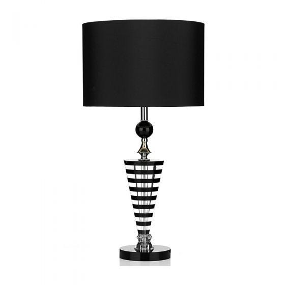 Dar Hudson Crystal Table Lamp - Black