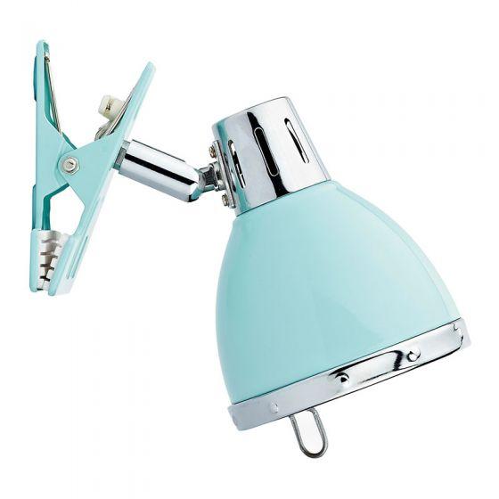 Dar Osaka Clip On Desk Lamp - Blue
