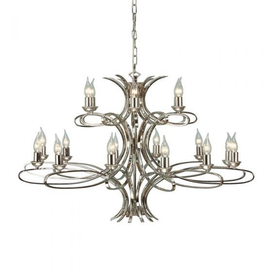 Interiors 1900 Penn 18 Light Chandelier - Polished Nickel