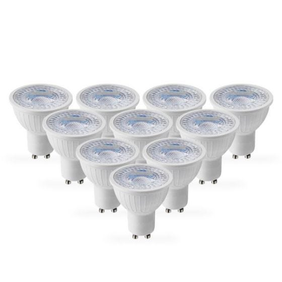 Lyco 5W Warm White Dimmable LED GU10 Bulb - Pack of 10 - Flood Beam