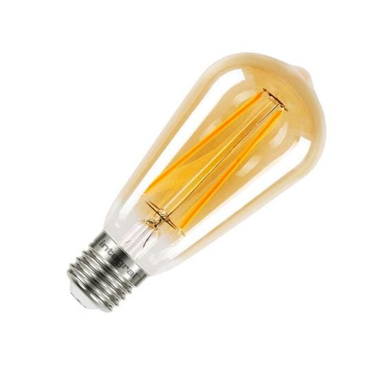Integral Sunset Vintage 2.5W Ultra Warm White LED Decorative Filament Squirrel Cage Bulb - Screw Cap