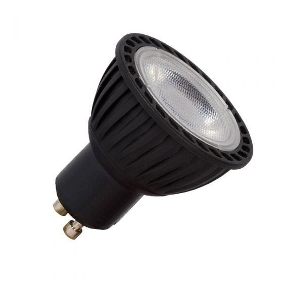5W Warm White Dimmable LED GU10 Bulb - Black - Flood Beam