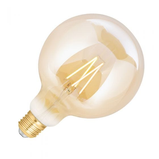 WiZ 6.5W White Changing Dimmable LED Decorative Filament Smart WiFi Amber 125mm Globe Bulb - Screw Cap