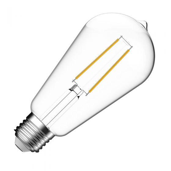 Eco 7W Warm White LED Decorative Filament Squirrel Cage Bulb - Screw Cap