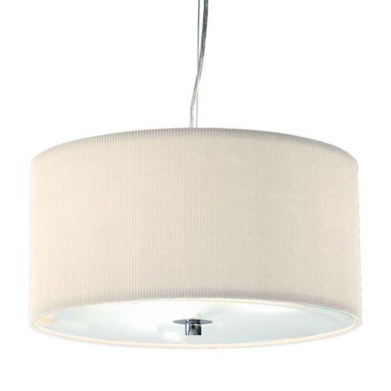 Dar Zaragoza 3 Light Ceiling Pendant Light - 400mm Cream