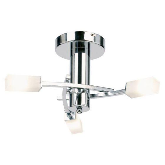 Endon Kennedy 3 Arm Semi-Flush Ceiling Light - Polished Chrome