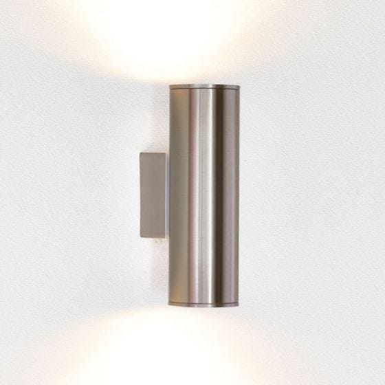 Eglo Riga LED Outdoor Up & Down Wall Light - Stainless Steel