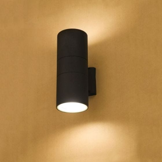 Edit Fog Outdoor Up & Down Wall Light - Dark Grey