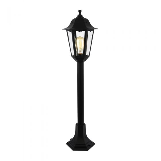 Forum Coastal Bianca Height Adjustable Lamp Post - Black