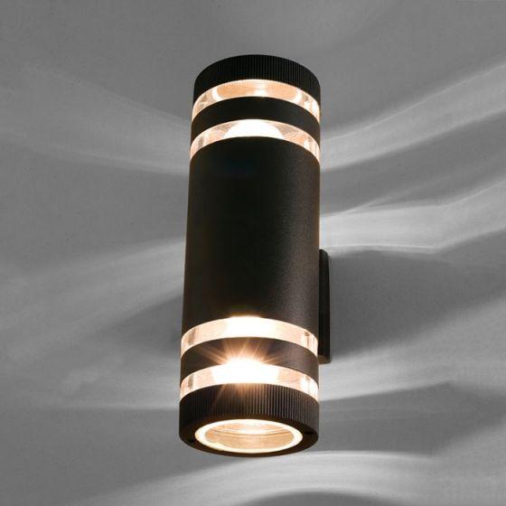 Edit Sierra Outdoor Up & Down Wall Light - Black