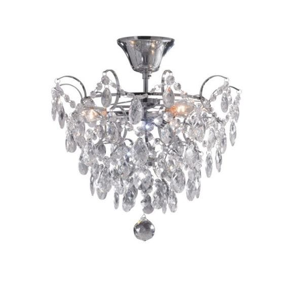 Rosendal Semi-Flush Ceiling Light - Crystal